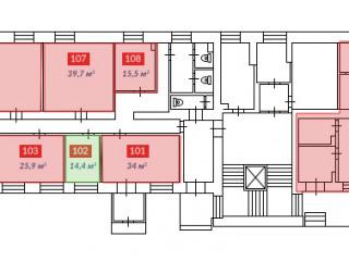 свободные помещения 1 этаж Блок А