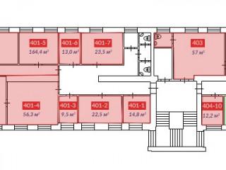 свободные помещения 4 этаж Блок А