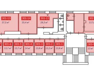 свободные помещения 3 этаж Блок А