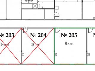 План помещения: Аренда офиса, 38 м² , Большая Санкт-Петербургская улица 86А , №1