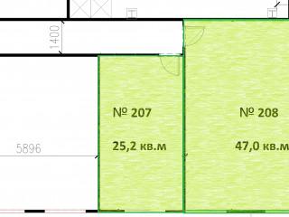 План помещения: Аренда офиса, 25 м² , Большая Санкт-Петербургская улица 86А , №1